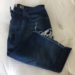 Men RS NEW YORK SLIM STRAIGHT JEANS CUT OFF 33-30